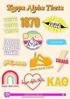 Kappa Alpha Theta Girl Power Stickers