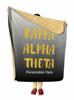 Kappa Alpha Theta Gradient Sherpa Lap Blanket