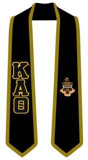 Kappa Alpha Theta Greek 2 Tone Lettered Graduation Sash Stole