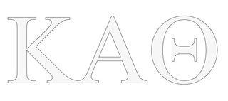 Kappa Alpha Theta Greek Letter Window Sticker Decal