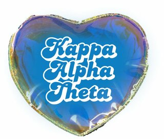 Kappa Alpha Theta Heart Shaped Makeup Bag