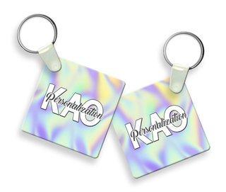 Kappa Alpha Theta Holla Square Keychain