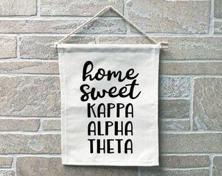 Kappa Alpha Theta Home Sweet Home Banner