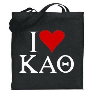 Kappa Alpha Theta I Love Tote Bags