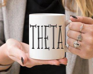 Kappa Alpha Theta Inline Coffee Mug