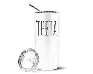 Kappa Alpha Theta Inline Stainless Tumbler