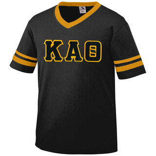 DISCOUNT-Kappa Alpha Theta Jersey With Greek Applique Letters