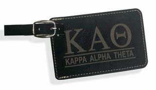 Kappa Alpha Theta Leatherette Luggage Tag