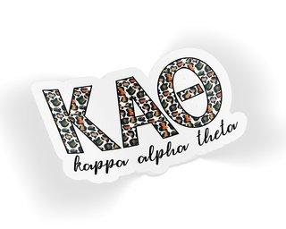 Kappa Alpha Theta Leopard Sticker