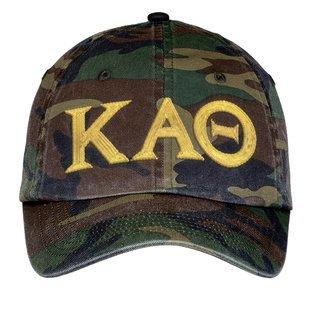 Kappa Alpha Theta Lettered Camouflage Hat
