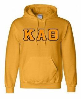 Kappa Alpha Theta Lettered Greek Hoodie- MADE FAST!