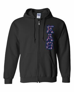 "Kappa Alpha Theta Lettered Heavy Full-Zip Hooded Sweatshirt (3"" Letters)"