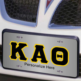 Kappa Alpha Theta Lettered License Cover