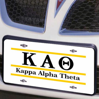 Kappa Alpha Theta Lettered Lines License Cover