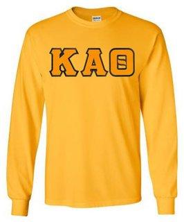 Kappa Alpha Theta Lettered Long Sleeve Tee- MADE FAST!