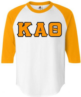 DISCOUNT-Kappa Alpha Theta Lettered Raglan Shirt
