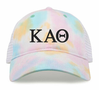 Kappa Alpha Theta Lettered Rainbow Cap