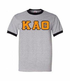 DISCOUNT-Kappa Alpha Theta Lettered Ringer Shirt