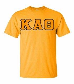 Kappa Alpha Theta Lettered T-shirt - MADE FAST!