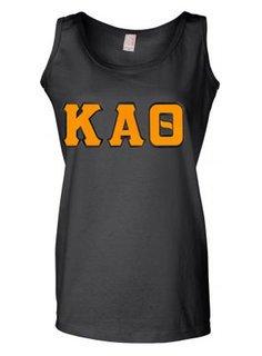 DISCOUNT-Kappa Alpha Theta Lettered Ladies Tank Top