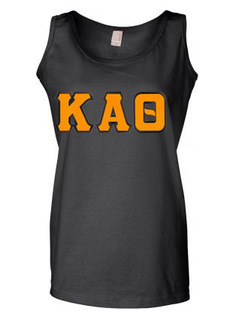 DISCOUNT-Kappa Alpha Theta Lettered Ladies Tank Top