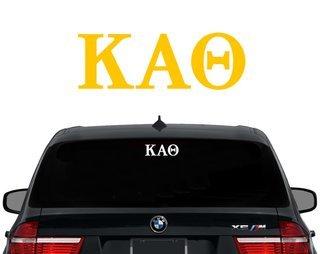 Kappa Alpha Theta Letters Decal