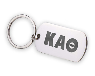 Kappa Alpha Theta Letters Stainless Keychain