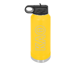Kappa Alpha Theta Letters Stainless Water Bottle