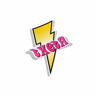 Kappa Alpha Theta Lightning Bolt Decal