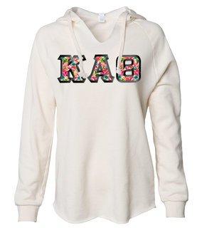 Kappa Alpha Theta Lightweight California Wavewash Hooded Pullover Sweatshirt