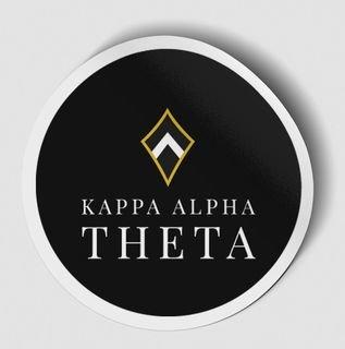 Kappa Alpha Theta Logo Round Decal
