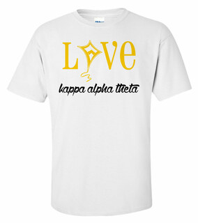 Kappa Alpha Theta Love Mascot T-Shirt