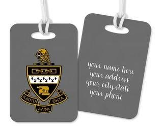 Kappa Alpha Theta Crest - Shield Luggage Tag