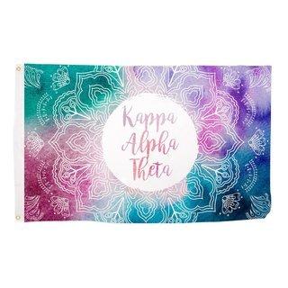 Kappa Alpha Theta Mandala Flag