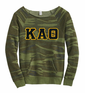 DISCOUNT-Kappa Alpha Theta Maniac Camo Fleece Sweatshirt