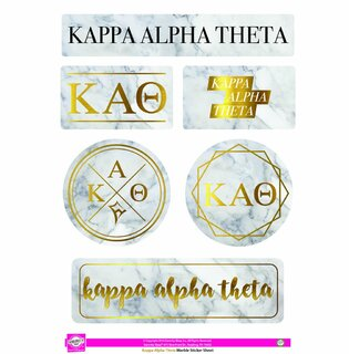 Kappa Alpha Theta Marble Sticker Sheet
