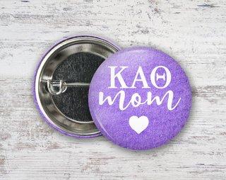 Kappa Alpha Theta Mom Button