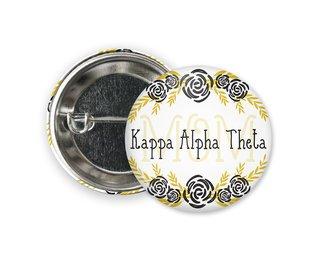 Kappa Alpha Theta Mom Floral Button