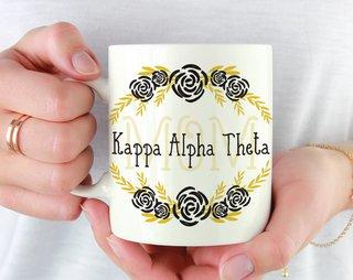 Kappa Alpha Theta Mom Floral Mug