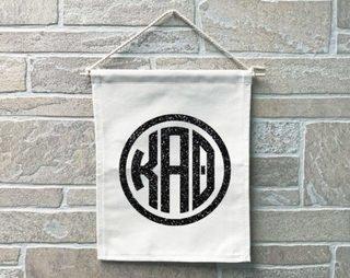 Kappa Alpha Theta Monogram Banner
