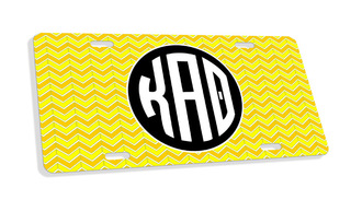 Kappa Alpha Theta Monogram License Plate
