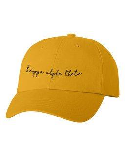 Kappa Alpha Theta Smiling Script Greek Hat