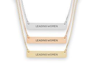 Kappa Alpha Theta Motto Bar Necklace