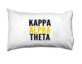 Kappa Alpha Theta Name Stack Pillow Cover