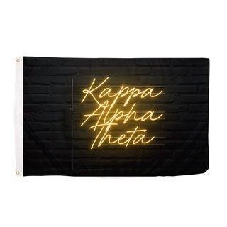 Kappa Alpha Theta Neon Flag