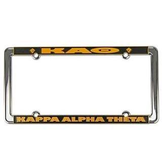 Kappa Alpha Theta New Design License Plate Frame