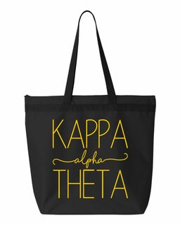 Kappa Alpha Theta New Handwriting Tote Bag