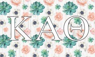 Kappa Alpha Theta New Succulent Flag