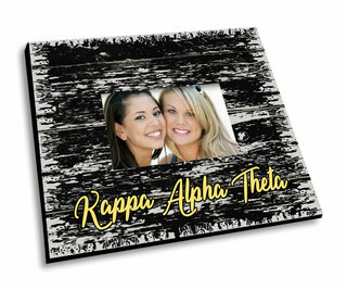 Kappa Alpha Theta Painted Fence Picture Frame
