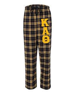Kappa Alpha Theta Pajamas -  Flannel Plaid Pant